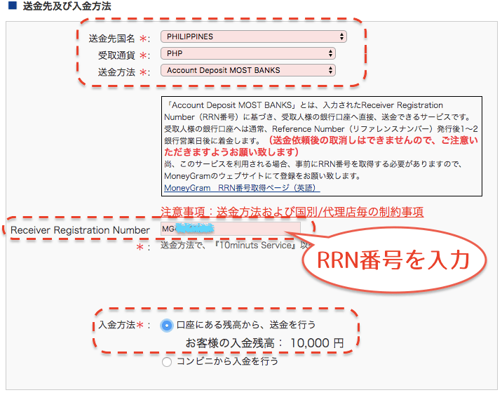 SBIレミットの使い方:会員サイトから送金依頼